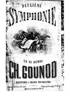 Symphony No.2 in E Flat Major: movimentos I-II by Charles Gounod