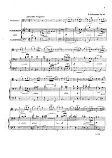 Andante religioso for Cello (or Viola) and Harmonium (or Piano), Op.56: partitura by Georg Goltermann