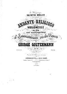 Andante religioso for Cello (or Viola) and Harmonium (or Piano), Op.56: parte violoncelo by Georg Goltermann
