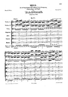 Mass No.3 in C Major 'Dominicus', K.66: Mass No.3 in C Major 'Dominicus' by Wolfgang Amadeus Mozart