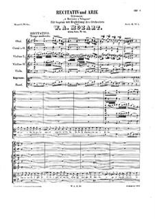 A Berenice e Vologeso, K.70: A Berenice e Vologeso by Wolfgang Amadeus Mozart