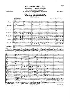 Misero me, K.77: Misero me by Wolfgang Amadeus Mozart