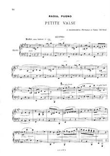Petite valse for Piano Four Hands: Petite valse for Piano Four Hands by Raoul Pugno
