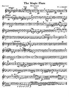Overture: parte trompas by Wolfgang Amadeus Mozart