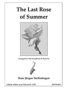 The Last Rose of Summer: para alto saxofone e piano by folklore