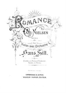 Fantastic Pieces for Oboe and Piano, FS 8 Op.2: No.1 Romance. Version for violin and piano – solo part by Carl Nielsen