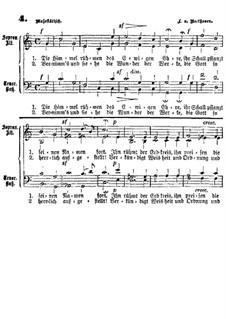 Die Himmel rühmen (The Heavens Declare the Glory of God): para coro by Ludwig van Beethoven