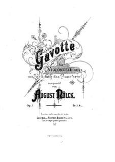 Gavotte, Op.7: Score by August Nölck