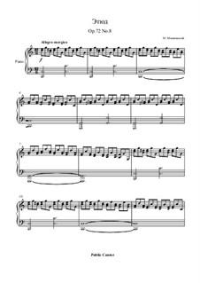 Fifteen Virtuosic Etudes, Op.72: estudo No.8 by Moritz Moszkowski