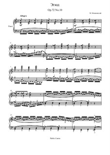 Fifteen Virtuosic Etudes, Op.72: Estudo No.10 by Moritz Moszkowski