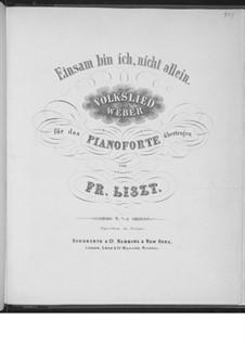 Transcription on Theme from 'Preciosa' by Weber, S.453: Transcription on Theme from 'Preciosa' by Weber by Franz Liszt