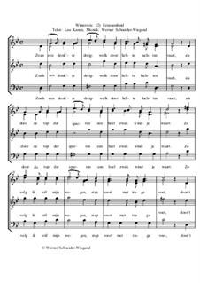 Winterreise, Nr.73-100, Op.23: Nr.94 Eenzaamheid by Werner Schneider-Wiegand