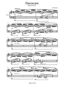 No.23 in F Major: Para Piano by Frédéric Chopin