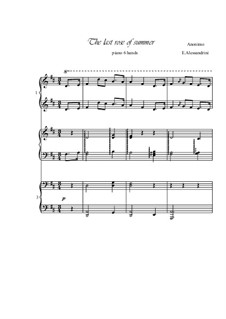 The Last Rose of Summer: For piano 6 hands by folklore