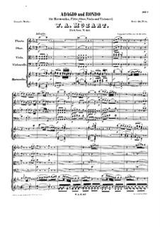 Adagio and Rondo for Glass Harmonica, Flute, Oboe, Viola and Cello, K.617: Adagio and Rondo for Glass Harmonica, Flute, Oboe, Viola and Cello by Wolfgang Amadeus Mozart