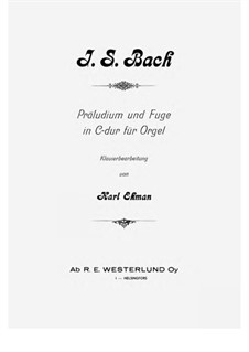 Prelude and Fugue No.1 in C Major, BWV 531: Para Piano by Johann Sebastian Bach