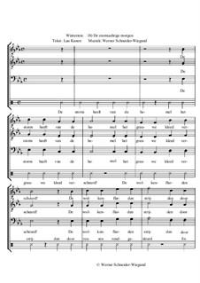 Winterreise, Nr.73-100, Op.23: Nr.99 De stormachtige morgen by Werner Schneider-Wiegand
