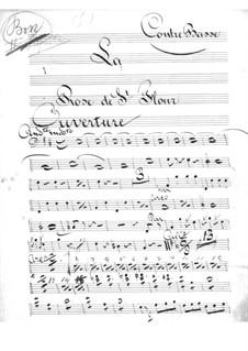 La rose de Saint-Flour: Parte contrabaixo by Jacques Offenbach