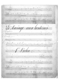Le mariage aux lanternes (The Wedding by Lantern-Light): violinos parte I by Jacques Offenbach
