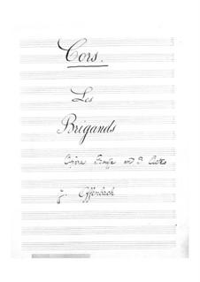 Les brigands (The Bandits): parte trompa by Jacques Offenbach