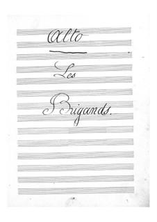 Les brigands (The Bandits): parte violas by Jacques Offenbach