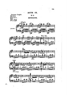 Les brigands (The Bandits): act II, para vozes e piano by Jacques Offenbach