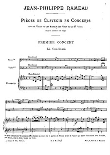 Harpsichord Concerto No.1 in C Minor, RCT 7: Partitura completa by Jean-Philippe Rameau