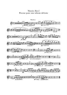 Pavane pour une infante défunte (Pavane for a Dead Princess), M.19: For orchestra – oboe part by Maurice Ravel