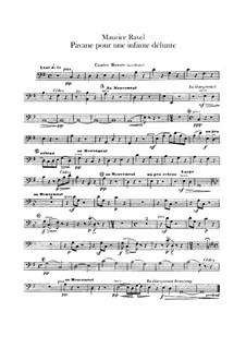 Pavane pour une infante défunte (Pavane for a Dead Princess), M.19: para orquestra - parte contrabaixo by Maurice Ravel
