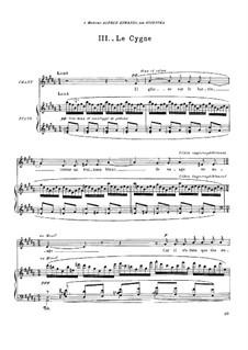 Histoires naturelles, M.50: No.3 Le Cygne by Maurice Ravel