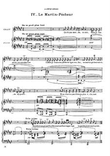 Histoires naturelles, M.50: No.4 Le martin-pêcheur by Maurice Ravel