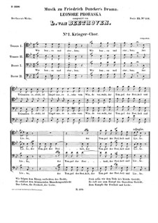 Incidental Music to Leonore Prohaska, WoO 96: Choir for Voices and Orchestra by Ludwig van Beethoven