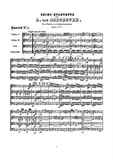 Quartet No.4 in C Minor: partitura completa by Ludwig van Beethoven
