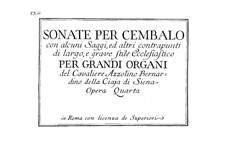 Six Sonatas for Harpsichord, Op.4: seis sonetos para cravo by Azzolino Bernardino Della Ciaja