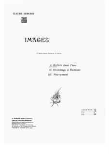 Set I, L.110: No.1 Reflets dans l'eau by Claude Debussy
