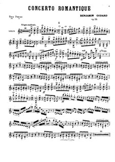 Concerto Romantique for Violin and Orchestra, Op.35: para violino e piano - parte solo by Benjamin Godard