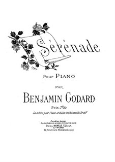 Two Pieces for Cello and Orchestra, Op.36: No.2 Serenade. Arrangement for piano by Benjamin Godard