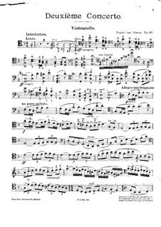 Concerto for Cello and Orchestra No.2, Op.30: para violoncelo e piano - parte solo by Daniel Van Goens