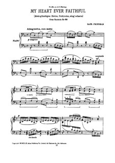 Also hat Gott die Welt geliebt (God so Loved the World), BWV 68: Mein gläibiges Herze, frohlocke, sing', scherze by Johann Sebastian Bach