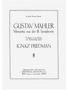 Symphony No.3 in D Minor: Tempo di Menuetto, for piano by Gustav Mahler