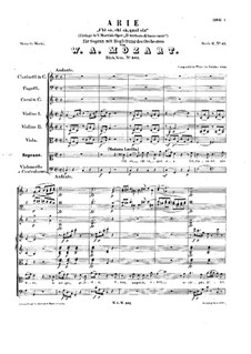 Chi sà, chi sà, qual sia, K.582: Chi sà, chi sà, qual sia by Wolfgang Amadeus Mozart