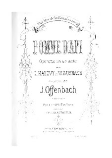 Pomme d'api: Partitura Piano-vocal by Jacques Offenbach