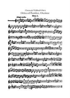 Overture: Parte de oboé by Christoph Willibald Gluck