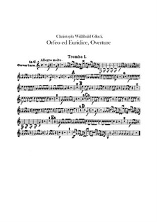 Overture: parte trompetas by Christoph Willibald Gluck