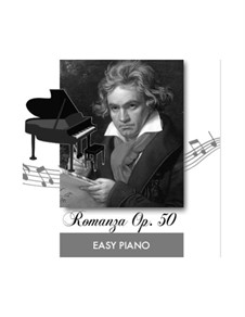Romance for Violin and Orchestra No.2 in F Major, Op.50: For easy piano (fragment) by Ludwig van Beethoven