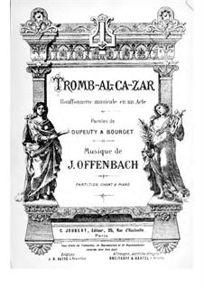 Tromb-al-ca-zar: Partitura Piano-vocal by Jacques Offenbach
