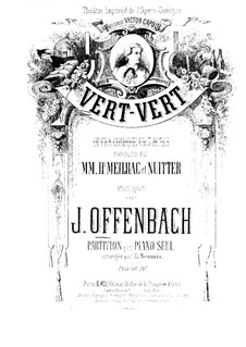Vert-vert: Para Piano by Jacques Offenbach