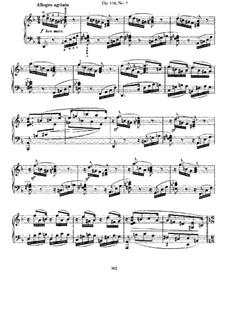 Seven Fantasias, Op.116: No.7 Capriccio in D Minor by Johannes Brahms