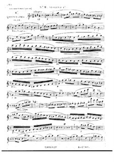String Quintet No.8 in D Minor, Op.24: violino parte I by Georges Onslow