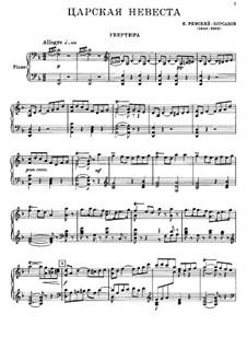 The Tsar's Bride: Partitura Piano-vocal by Nikolai Rimsky-Korsakov